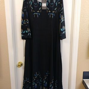 1x peacock ankle length dress